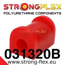 Strongflex Hátsó stabilizátor felfüggesztő szilent 15-24mm SPORT sárga BMW E21 piros