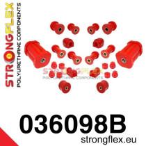 Strongflex Teljes felfüggesztés szilent készlet SPORT piros BMW E21