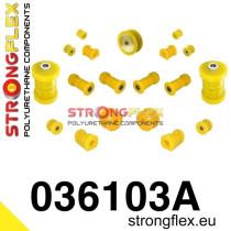 Strongflex Teljes felfüggesztés szilent készlet SPORT sárga BMW E30