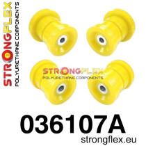 BMW E36 Strongflex Hátsó híd felfüggesztő szilent készlet SPORT sárga