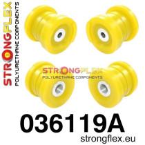 Strongflex Hátsó híd felfüggesztő szilent készlet SPORT sárga BMW E46