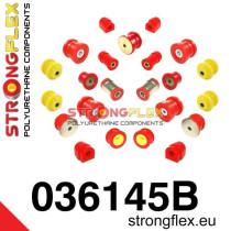 Strongflex Teljes felfüggesztés szilent készlet SPORT piros BMW E46