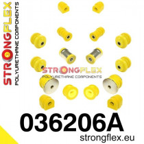 Strongflex Futómű szilent készlet SPORT sárga BMW E46
