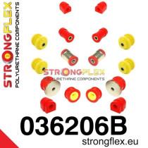 Strongflex Futómű szilent készlet SPORT piros BMW E46