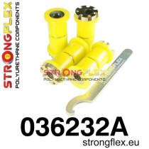 Strongflex Hátsó összekötő kar szilent készlet (Excentrikus) SPORT sárga