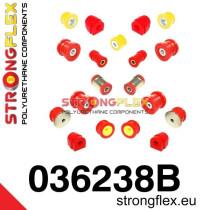 Strongflex Teljes felfüggesztés szilent készlet SPORT BMW E46 M3 piros