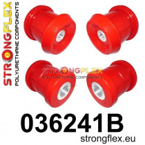 Strongflex Hátsó bölcső hátsó  szilent SPORT Piros BMW E90/E91/E92/E93