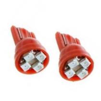 CLASSIC T10 4SMD Piros SMD-LA512R-4