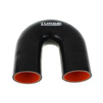 Szilikon könyök TurboWorks PRO Fekete 180 fok 57mm