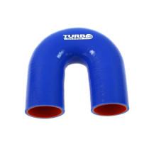 Szilikon könyök TurboWorks PRO Kék 180 fok 57mm