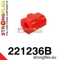 Első stabilizátor szilent 18-24 mm piros  Audi 50 74-78, Volkswagen Derby, Volkswagen Polo I, II 75-94
