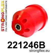 Hátsó bölcső szilent SPORT piros 69mm