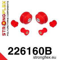 Stongflex Első felfüggesztés szilent készlet SPORT piros