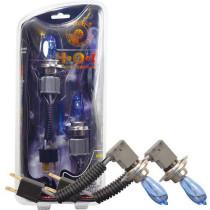 HOD Halogén izzó H4 foglalattal emelt fényerővel-kék