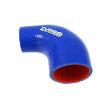Szilikon szűkítő könyök TurboWorks PRO Kék 90 fok 70-76 mm