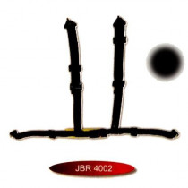 2 colos hagyományos csatos sport öv JBR4002-2BK/TU-ÖV
