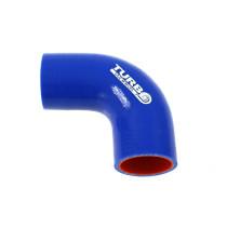 Szilikon könyök TurboWorks PRO Kék 90 fok 57 mm