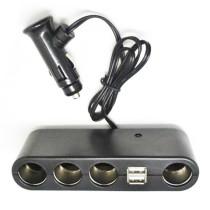 USB + Szivargyújtó elosztó AE-WF0120 12/24V