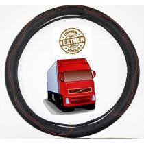 teherautós Valódi bőr furgon kormányvédő DS01BKR-49CM