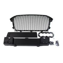 Tuning   hűtőrács GRILL  AUDI A4 B8 RS-STYLE GLOSS BLACK (12-15) PDC