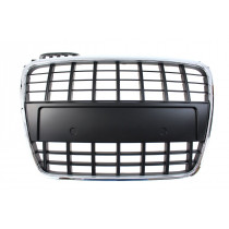 Tuning   hűtőrács GRILL  AUDI S4 S8-STYLE CHROME-BLACK (05-09)