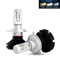 X3 H4 Fényszóró 12/24V 50W 5500K SMD-H4X3 színváltós