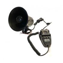 3 Szólamú, mikrofonos sziréna SZI-HS78003-3 12V/30W