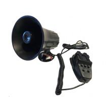 5 Szólamú, mikrofonos sziréna SZI-HS78003-5 12V/30W