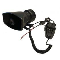 5 Szólamú, mikrofonos sziréna SZI-HS78006-5 12V/50W