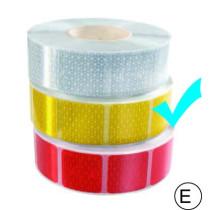 fényvisszaverő szalag kockas sárga M-HR-3CYK