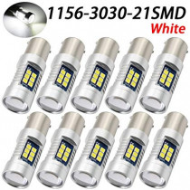 12/24V CANBUS 10db-os SMD-1156-3030-21SMD Fehér