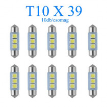 10db/csomag 3SMD LED 39mm-es Szofita SMD-10X39CS-3SMD