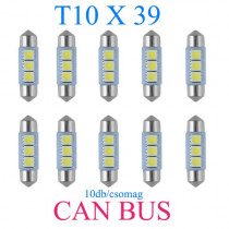 10db/csomag CANBUS 3SMD LED SMD-CD39mm-3SMD Szofita