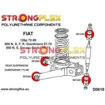 Hátsó összekötő kar szilent Strongflex Fiat 126p 72-99 500 N / D / F / R / Giardiniera 57-75 850 N / 850 S / 850 Coupe / 850 Spider 64-73