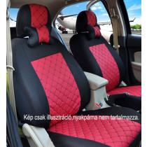 Univerzális fekete-piros steppelt üléshuzat szett UL-AG23002BR