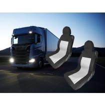 Kamion üléshuzat 2db- Fekete/Szürke