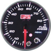 Óra, kijelző, műszer  AUTO GAUGE PK 52mm 10 színű háttérvilágítás  - Benzinnyomás