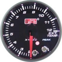 Óra, kijelző, műszer  AUTO GAUGE PK 60mm 10 színű háttérvilágítás  - Kipufogógáz hőmérséklet