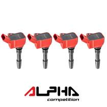 ALPHA COMPETITION PIROS GYÚJTÓTRAFÓ  2.0T EA888.3 / 2.5T EA855 EVO / 2.9T - 3.0T EA839
