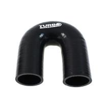 Szilikon könyök TurboWorks PRO Fekete 180 fok 51mm