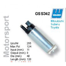 Walbro GSS 340, 341, 342 Motorsport benzinpumpa AC pumpa