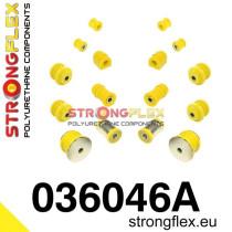 BMW E36 Strongflex  hátső felfüggesztés  polyurethane szilent szett SPORT sárga