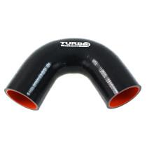 Szilikon 135 fok TurboWorks Pro fekete 63 mm