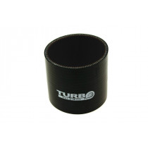 Szilikon összekötő, egyenes Turboworks  Fekete 51mm 8cm