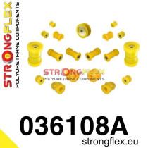 Strongflex Teljes felfüggesztés szilent készlet SPORT sárga BMW E36 Compact