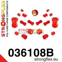 Strongflex Teljes felfüggesztés szilent készlet SPORT piros BMW E36 Compact