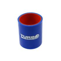 Szilikon összekötő, egyenes TurboWorks PRO Kék 51mm 8cm