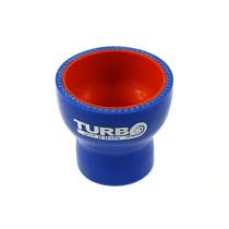 Szilikon szűkítő egyenes TurboWorks PRO Kék  80-89 mm