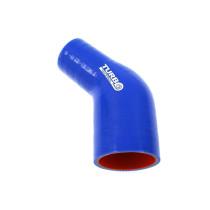 Szilikon szűkítő könyök TurboWorks Kék 45 fok 57-70