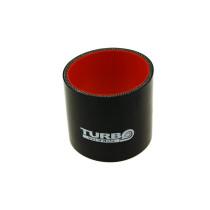 Szilikon összekötő, egyenes Turboworks Pro Fekete 51mm 8cm